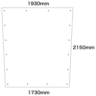 スロープ式シート寸法図